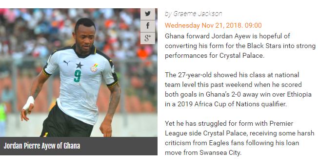 JORDAN AYEW:国家队和俱乐部足球不一样