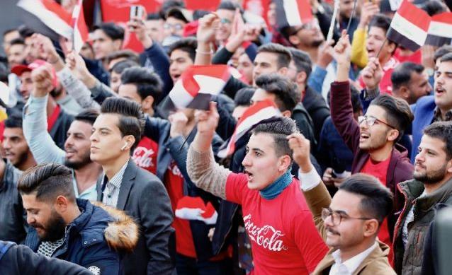 伊拉克足球 萬千擁躉巴格達見證球隊勝利