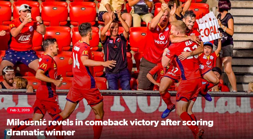阿德莱德联创澳职联常规逆转新纪录