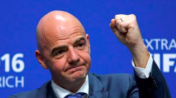 收获支持 恩菲天奴将连任FIFA主席