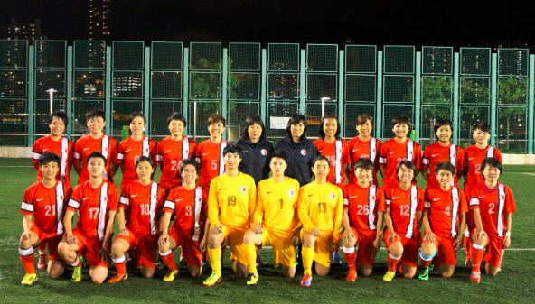 香港女子足球队友谊赛对中华台北名单