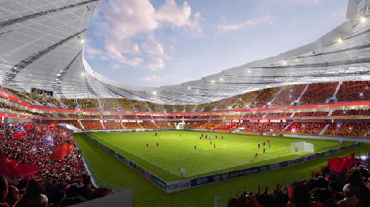 重庆首座6万人的专业足球场6月正式动工