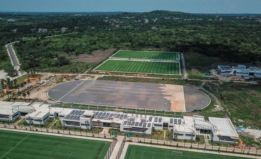 探访建设中的海南海口观澜湖足球基地