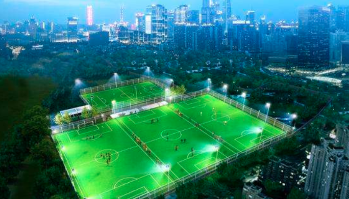 长沙市开福区足球协会训练基地正式开工